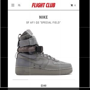 Men's new Nike Air Force sf1 special edition dust